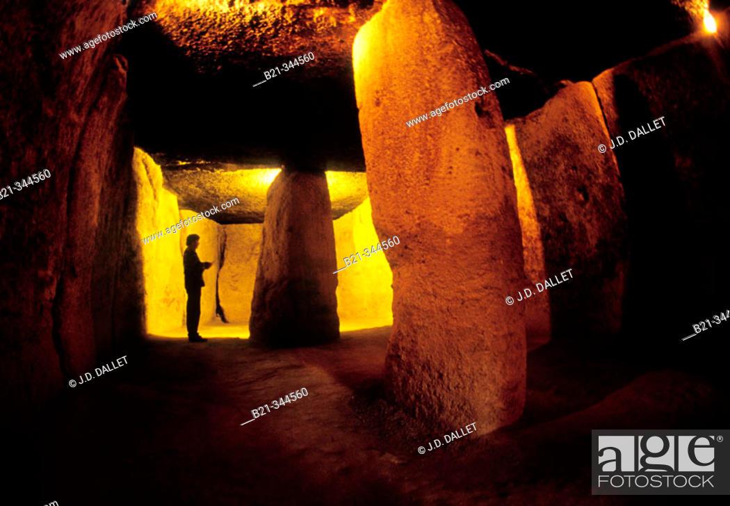 Stock Photo: Menga dolmen. Antequera, Málaga province. Spain.