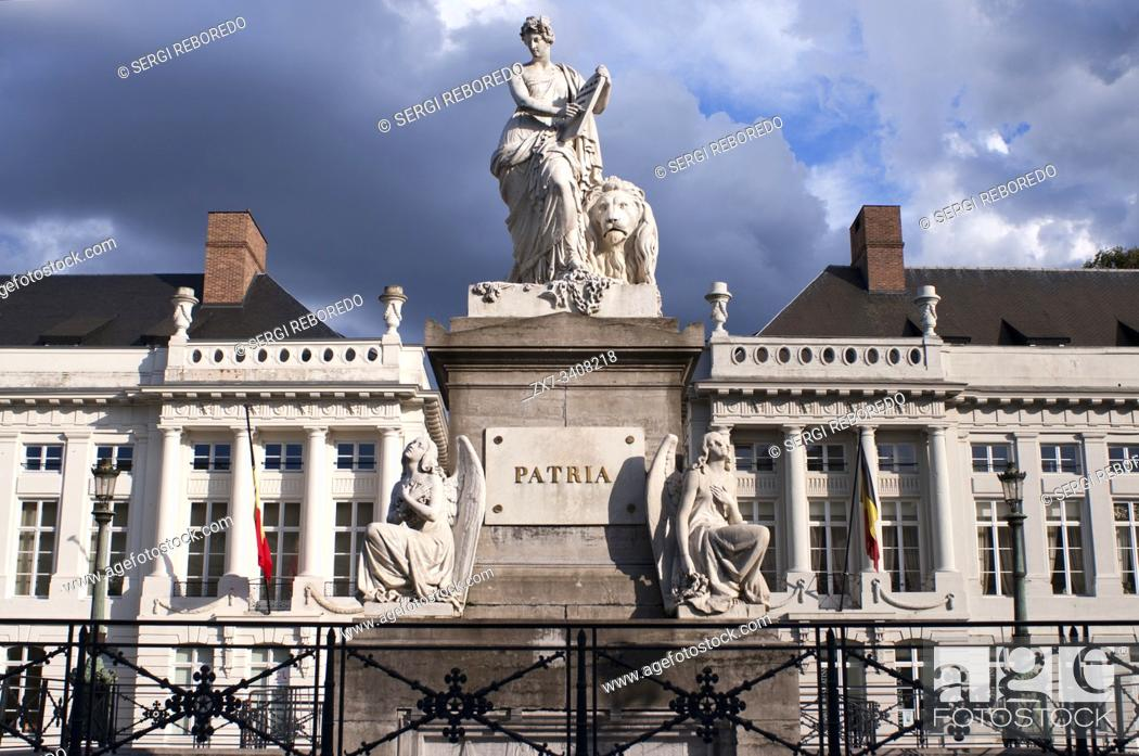 Stock Photo: The Place des Martyrs Square, Brussels, Belgium. Symbol of the Belgian Revolution of 1830.