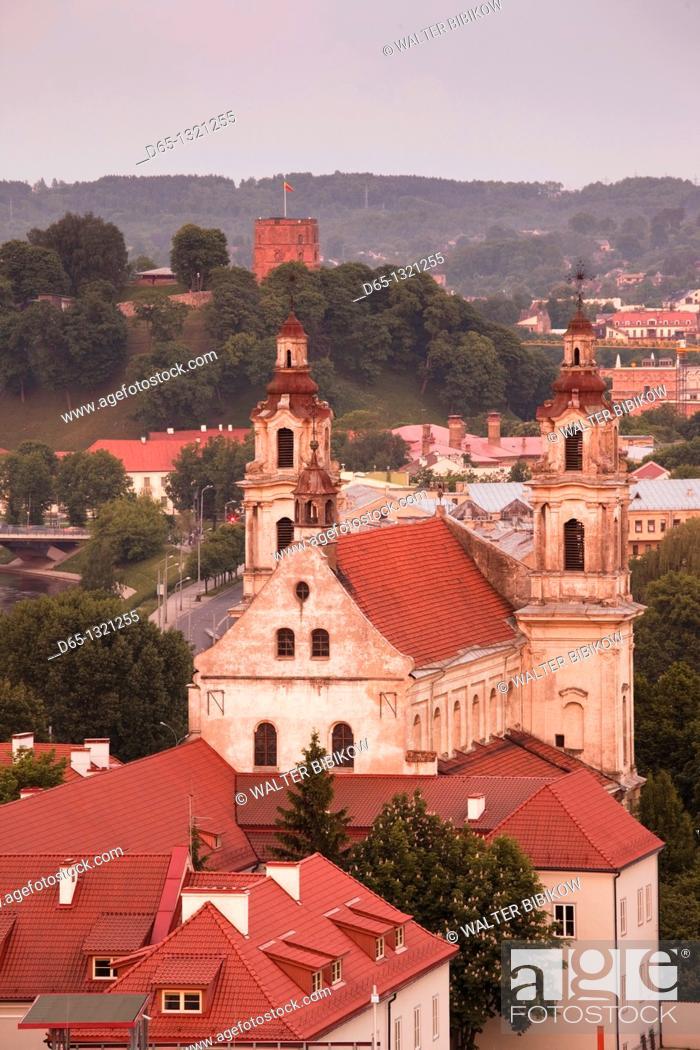 Stock Photo: Lithuania, Vilnius, St  Raphael's Church, sunset.