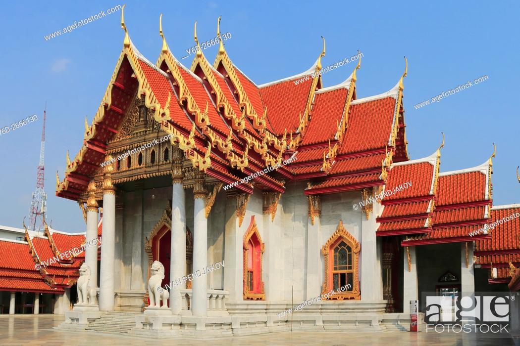 Stock Photo: Wat Benchamabophit, Bangkok, Thailand.