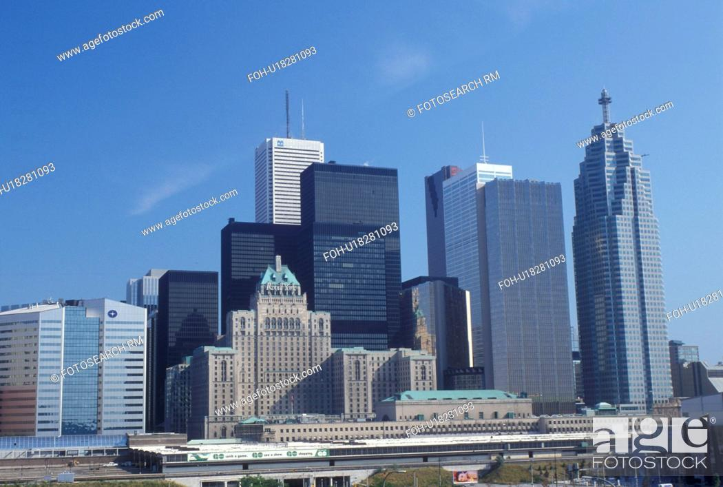 Photo de stock: skyline, Toronto, Canada, Ontario, Skyline of downtown Toronto.