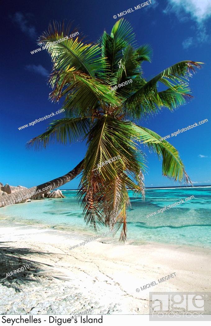 Stock Photo: Seychelles - Digue's Island.