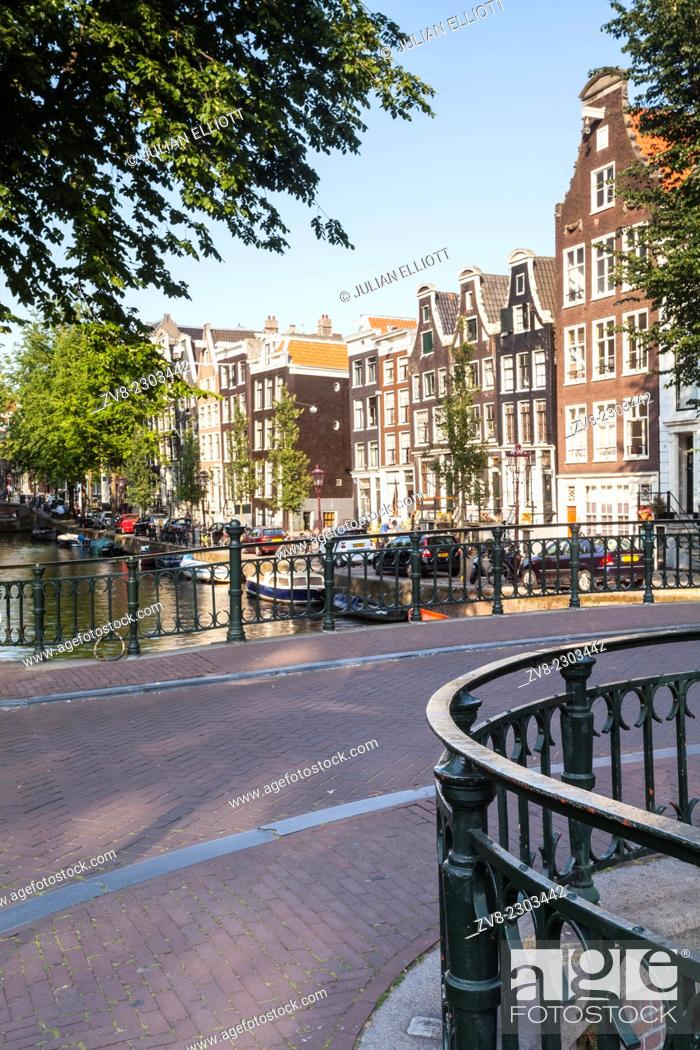 Stock Photo: The historic centre of Amsterdam, Netherlands. UNESCO has designated the historic centre of the city and its canals as a World Heritage Site.