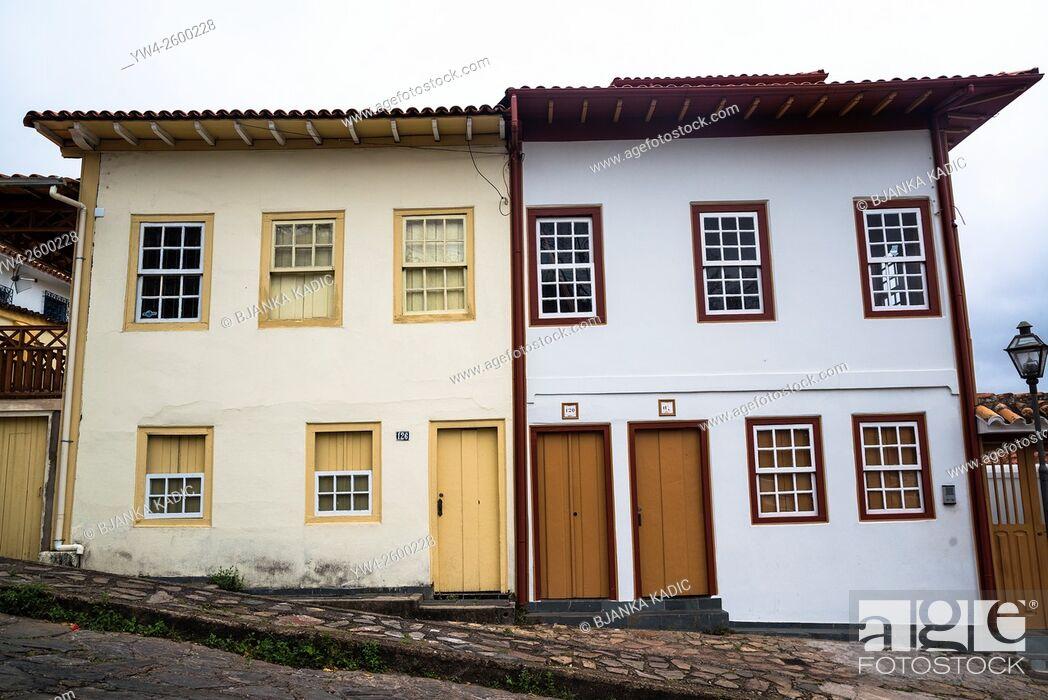 Stock Photo: Colonial houses, Diamantina, Minas Gerais, Brazil.