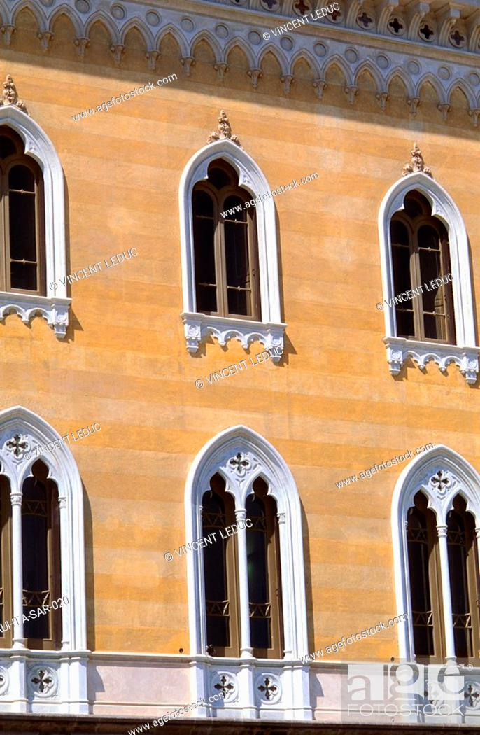 Stock Photo: Italy - Sardinia - North Region - Sassari - Piazza d'Italia.