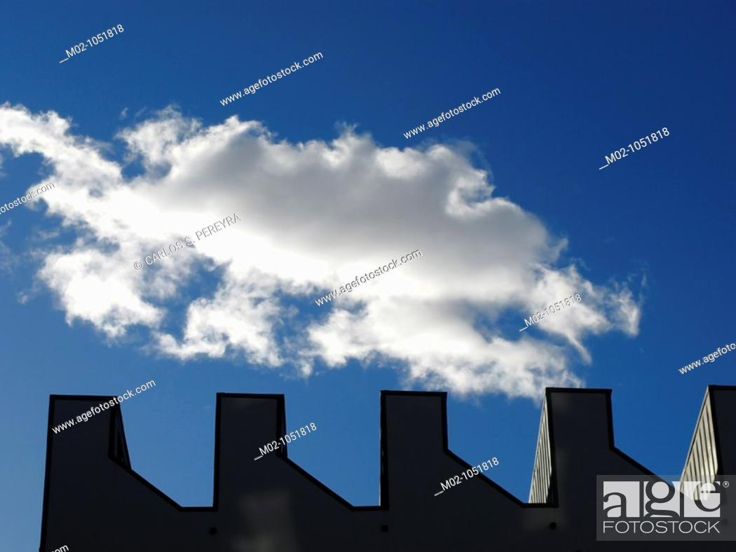 Stock Photo: cloud and architecture.