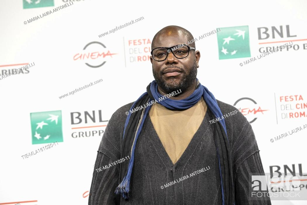 Stock Photo: The director Steve McQueen during the photocall of movie 'Small axe' at the 15th Rome Film Festival, Rome, ITALY-16-10-2020.