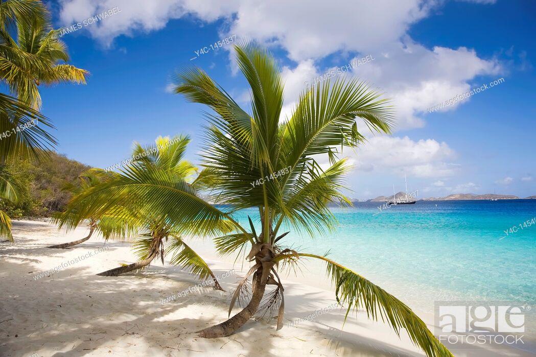 Imagen: Salomon Beach in the Virgin Islands National Park on the Caribbean Island of St John in the US Virgin Islands.