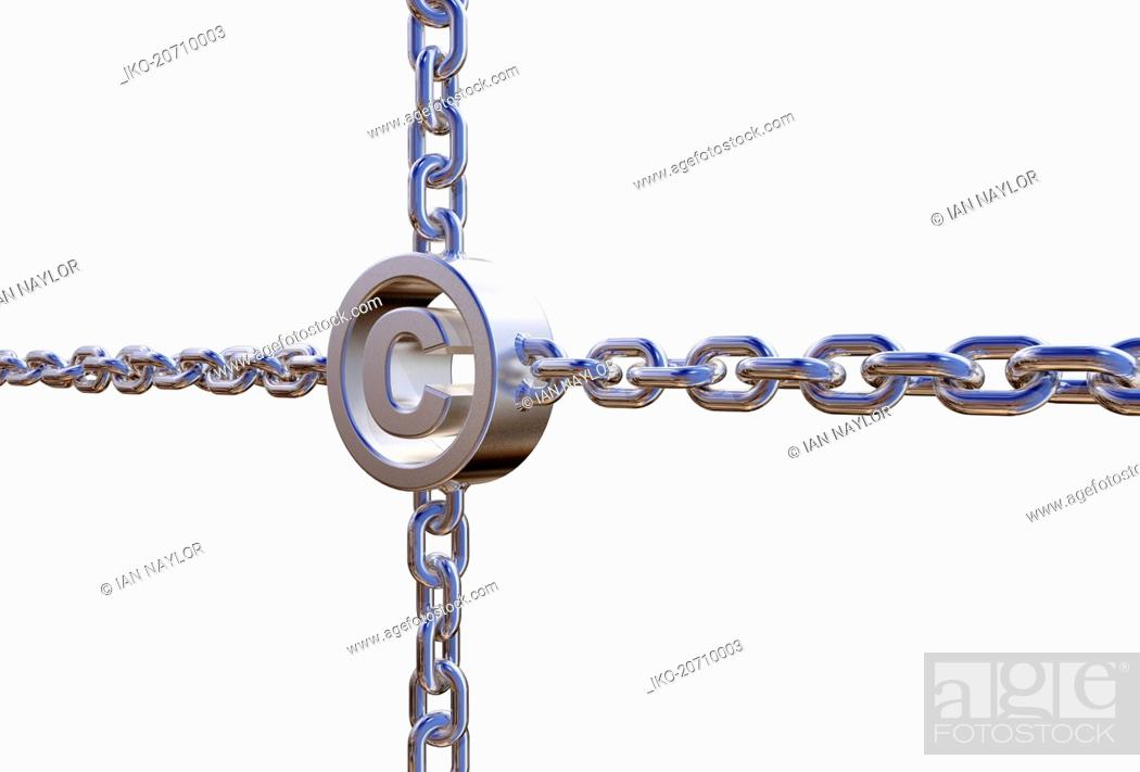 Photo de stock: Copyright symbol in chains.