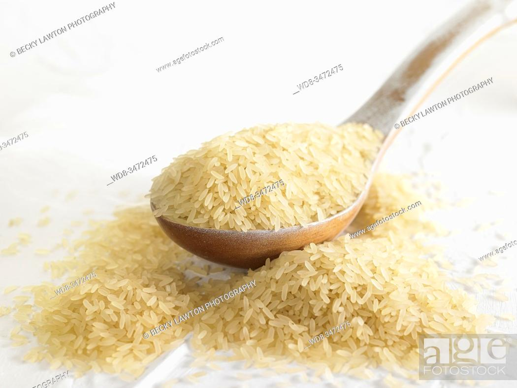 Stock Photo: arroz vaporizado / Steamed rice.