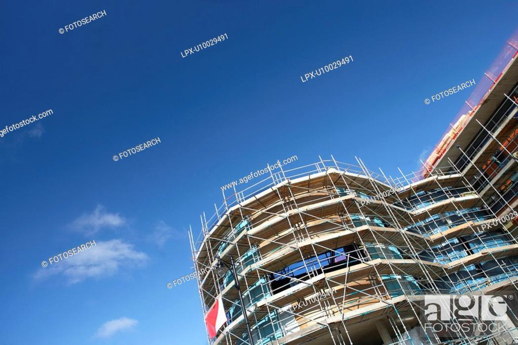 Stock Photo: Construction in progress.