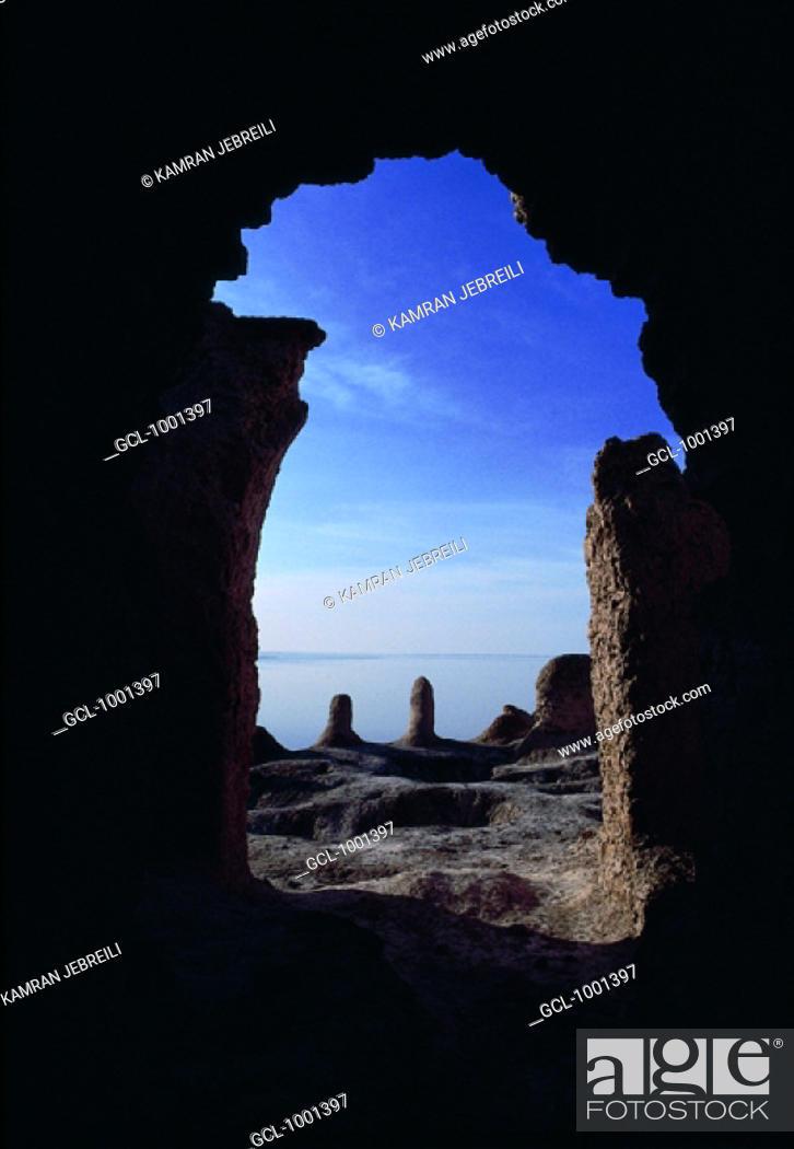 Stock Photo: Pre-Islamic architecture in the Khajeh mountains in Iran.