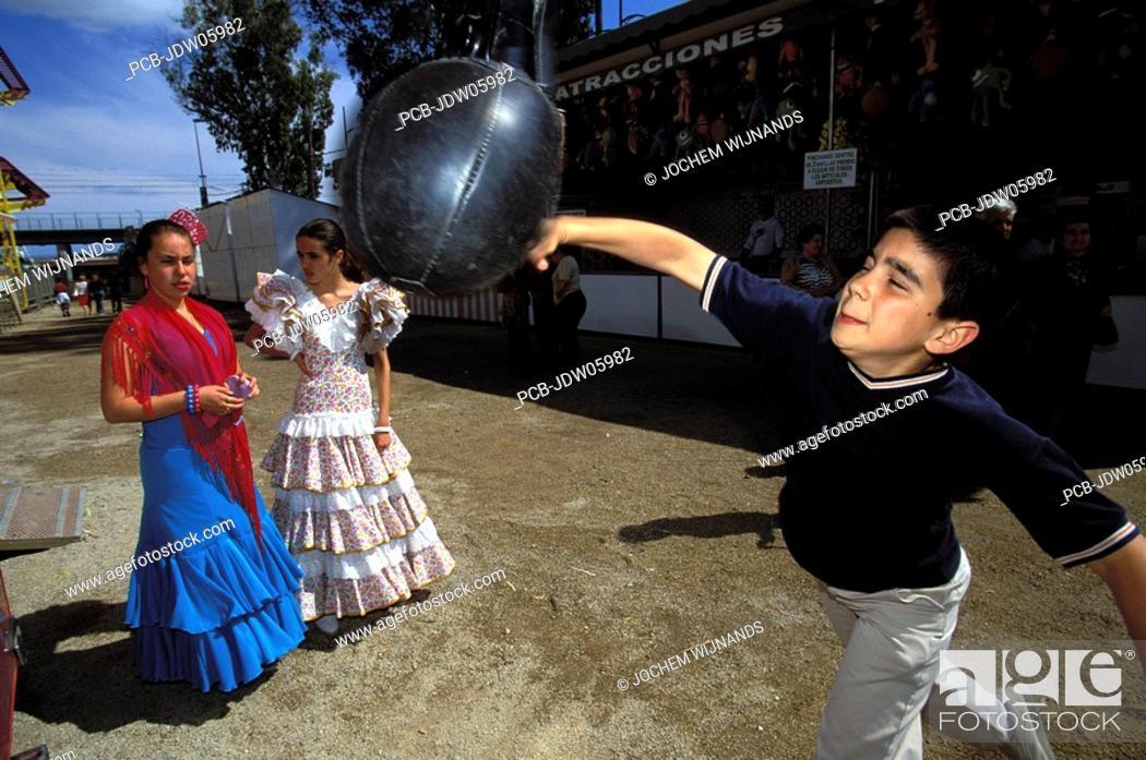 Stock Photo: showing off at the feria de Jerez.