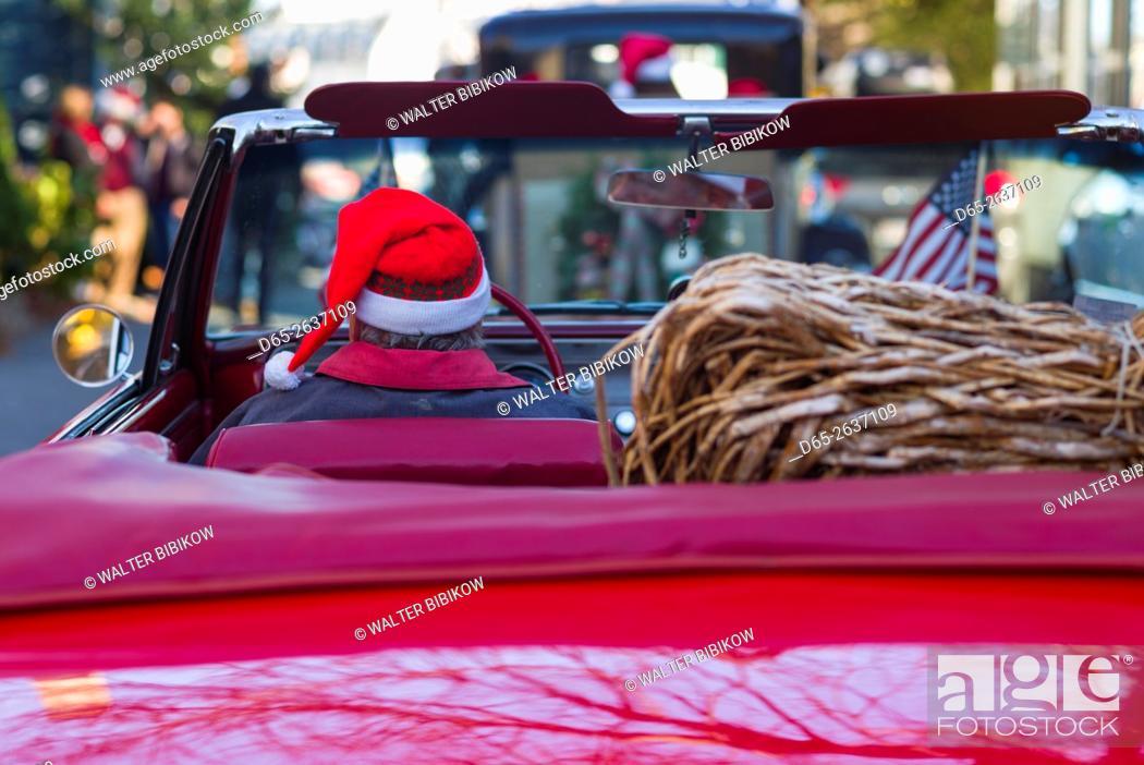Stock Photo: USA, Massachusetts, Marblehead, Christmas Parade, , detail.
