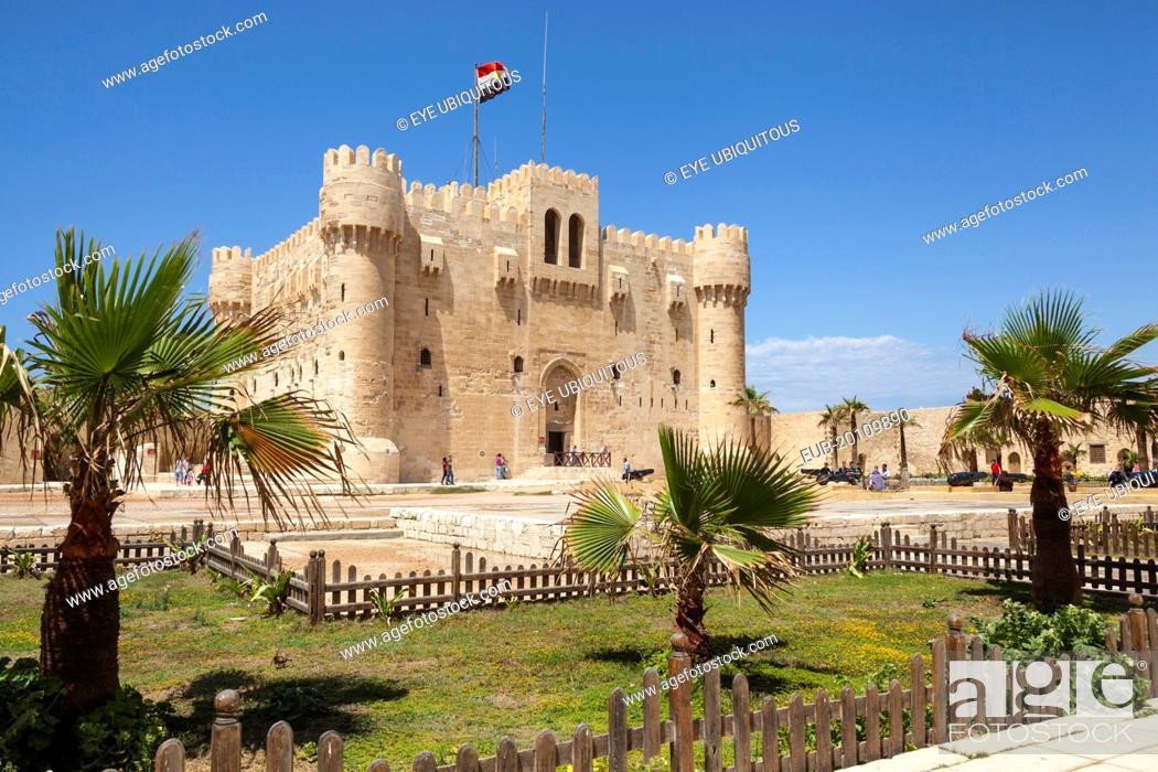 Stock Photo: Citadel of Qaitbay, also known as Fort of Qaitbay.