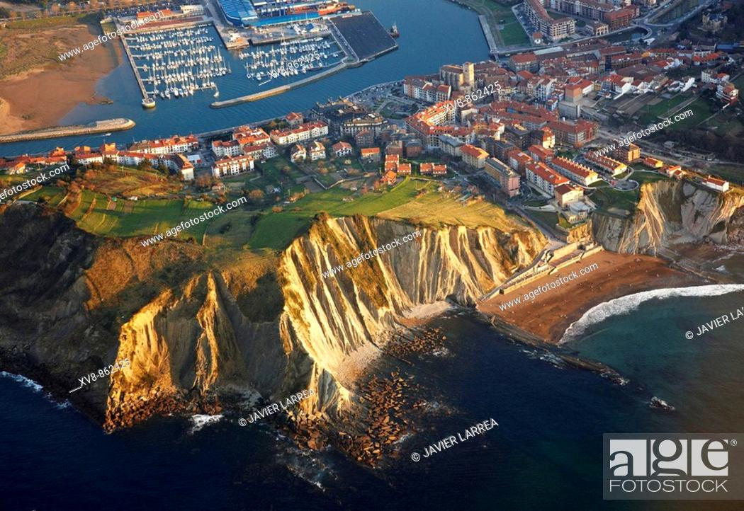 Stock Photo: Flysch, Zumaia, Gipuzkoa, Basque Country, Spain.