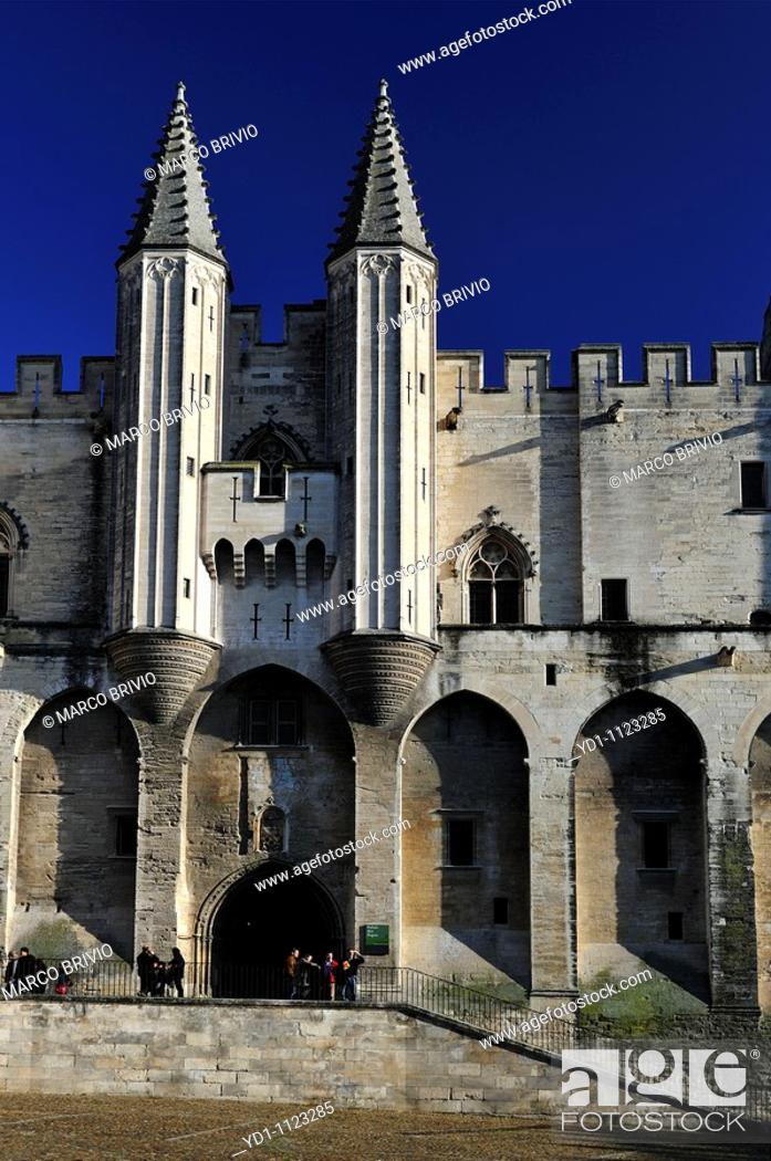 Stock Photo: Palace of Popes, Avignon, France.