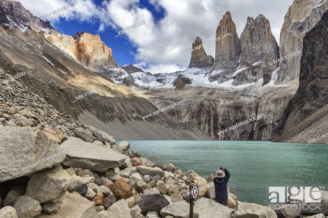 Photo de stock: Cordiera del Paine, National park Torres del Paine, Magallanes region, Patagonia, Chile.