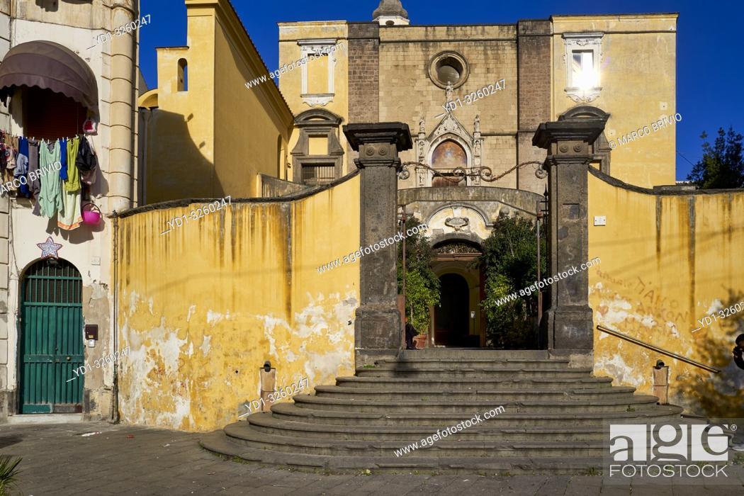 Stock Photo: Naples Campania Italy. San Giovanni a Carbonara church.