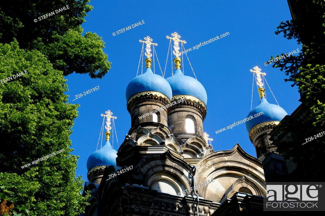Stock Photo: Russian Orthodox Church in Dresden, Saxony, Germany.