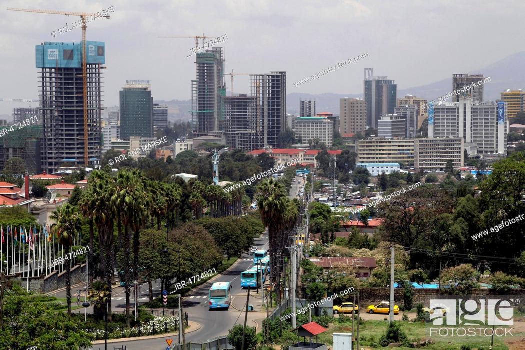 New construction of high-rise buildings, cityscape, Addis