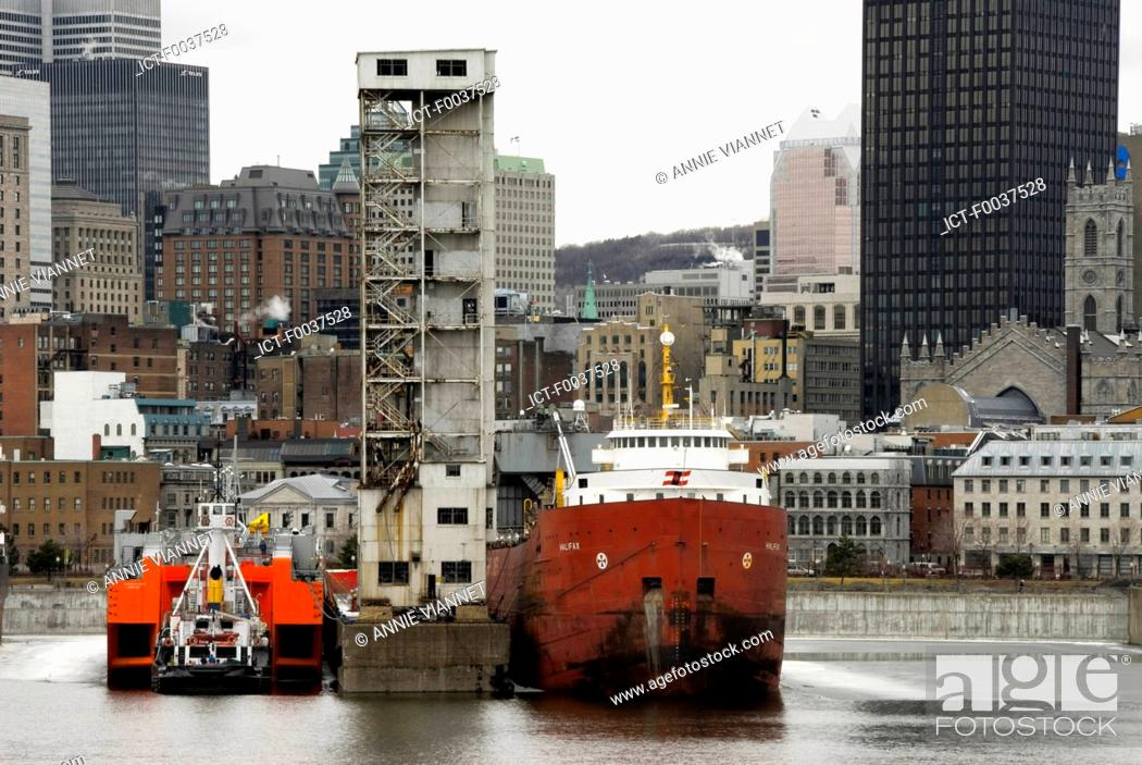 Stock Photo: Canada, Quebec, Montreal, old port, view from cite du Havre.