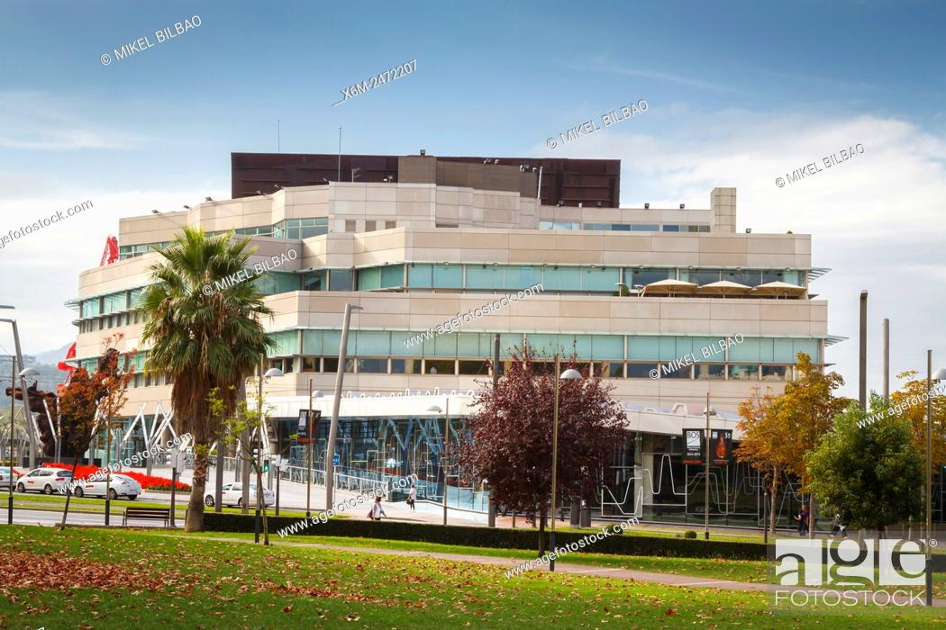 Stock Photo: Euskalduna Conference Centre and Concert Hall. Bilbao. Biscay, Spain, Europe.