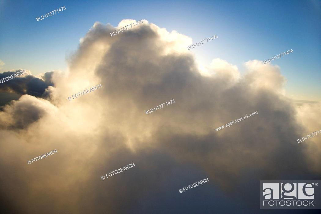 Stock Photo: Skyscape with big cloud and blue sky.