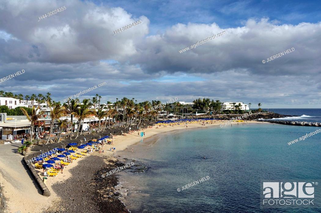 Stock Photo: Playa Blanca Beach , Lanzarote, Canary Islands, Spain.