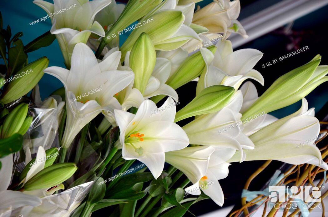 Imagen: Close View of Flower Arrangement.