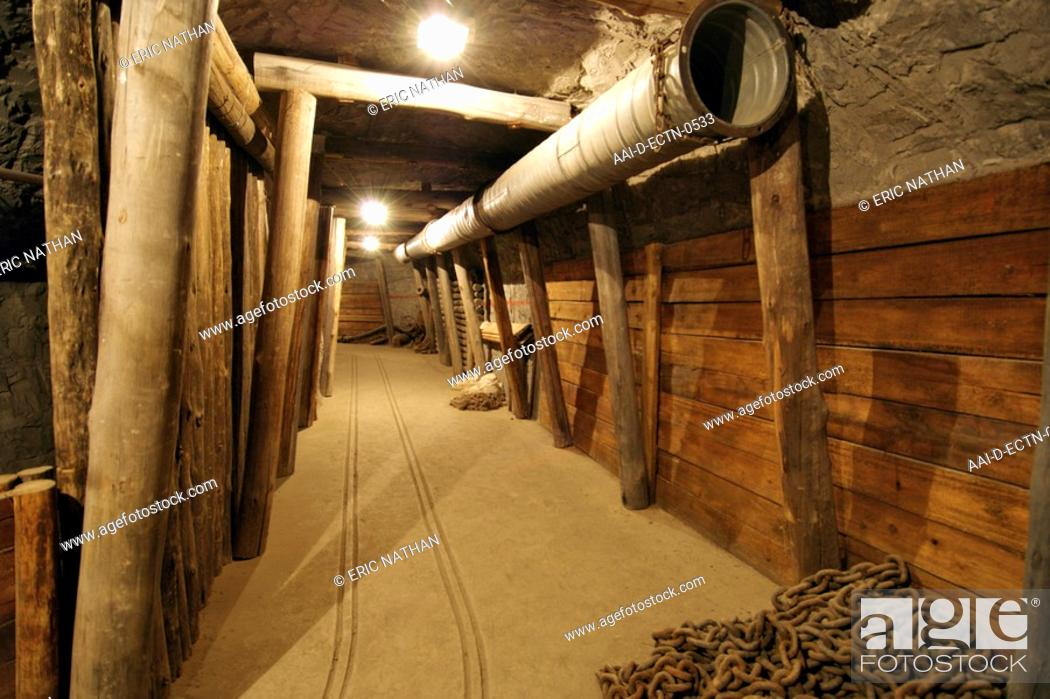 Re-created diamond mining tunnels at the Kimberley Open Mine