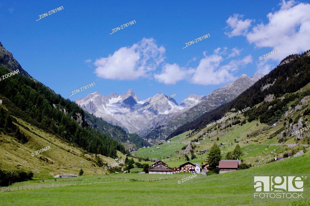 Stock Photo: Landschaft bei Meien im Kanton Uri, Auffahrt zum Sustenpass 2224m, verbindet Kanton Bern mit Uri, Schweiz.