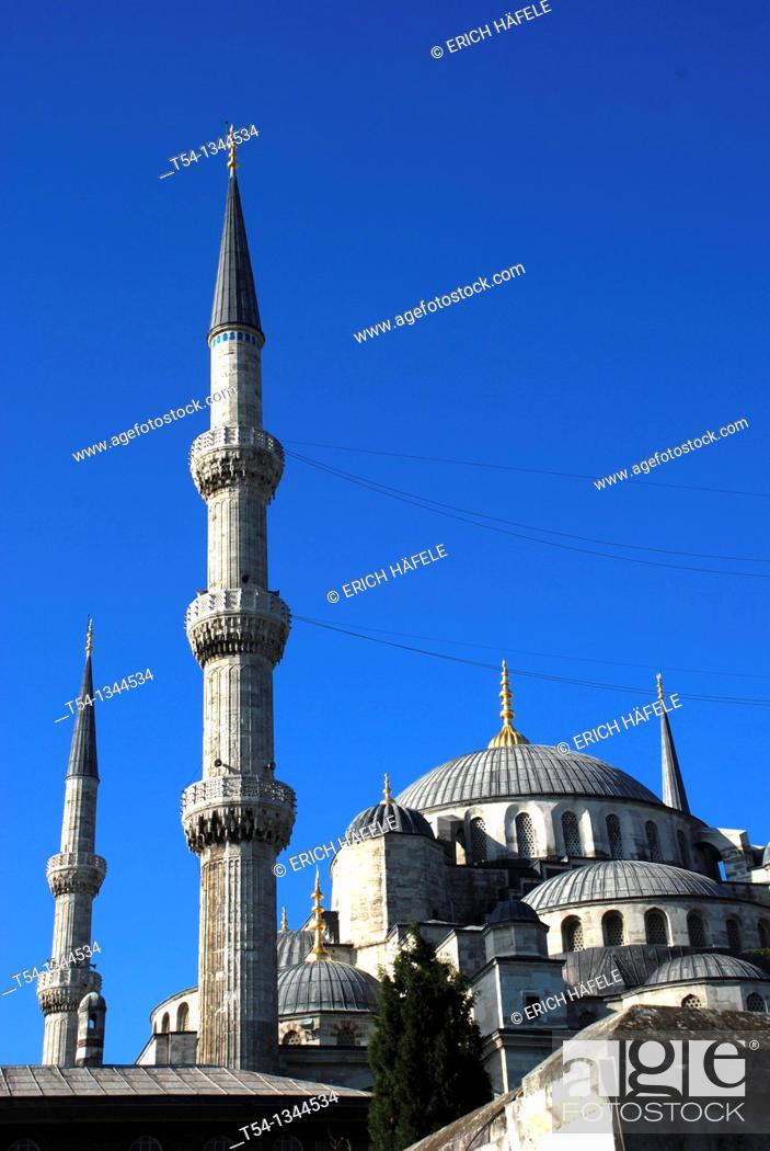 Stock Photo: The Blue Mosque in Istanbul.