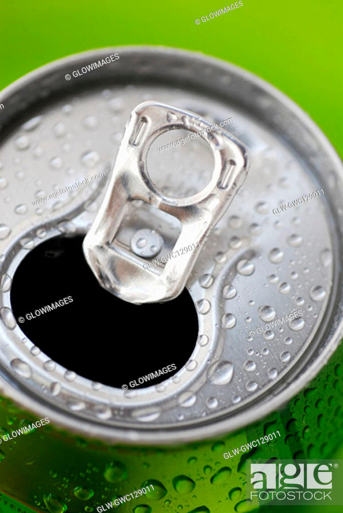 Stock Photo: Close-up of an opened can.