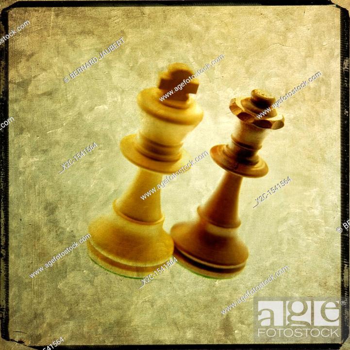 Stock Photo: Chess pieces.
