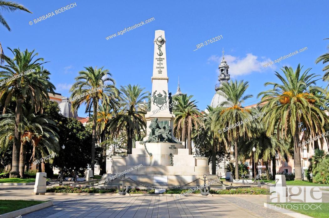 Stock Photo: War Memorial, Cartagena, Murcia Region, Spain.