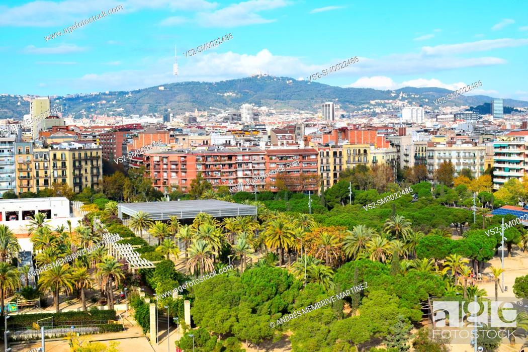 Photo de stock: Aerial landscapes of Barcelona.