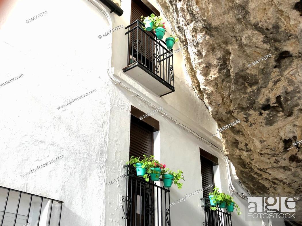 Stock Photo: Setenil de las Bodegas, Málaga, Spain, Europe.
