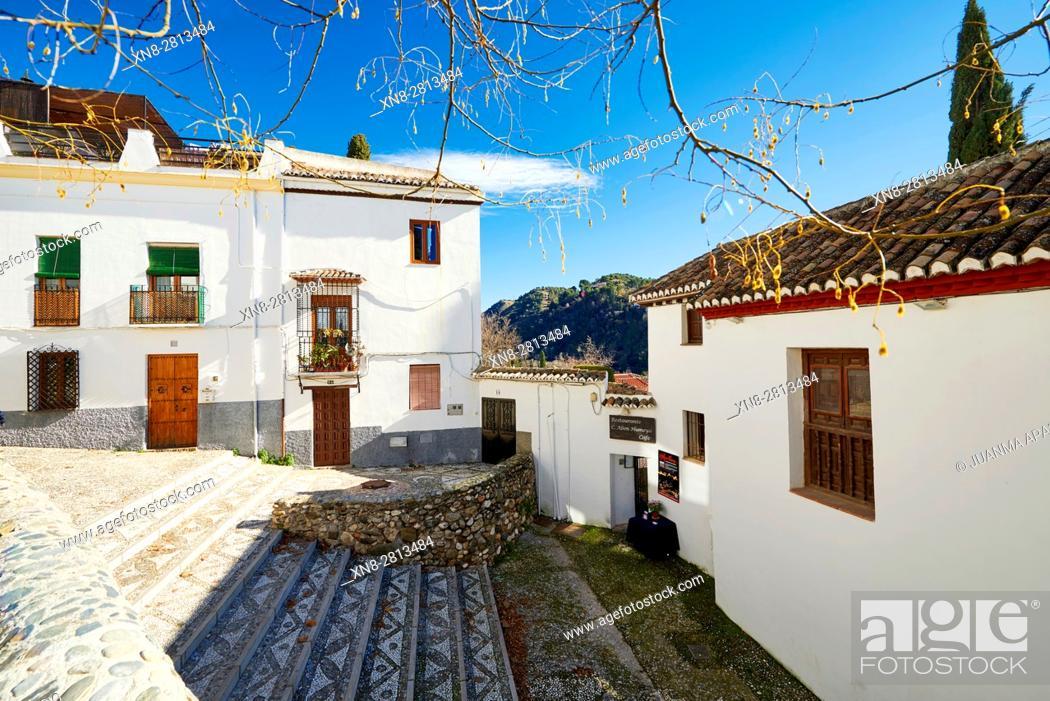 Stock Photo: Albaicin Neighborhood, Granada, Andalusia, Spain, Europe.