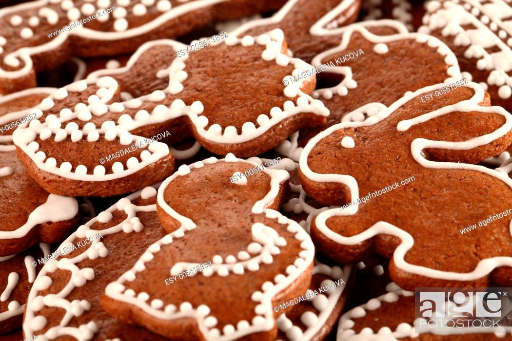 Stock Photo: Close-up of Easter gingerbread cookies.