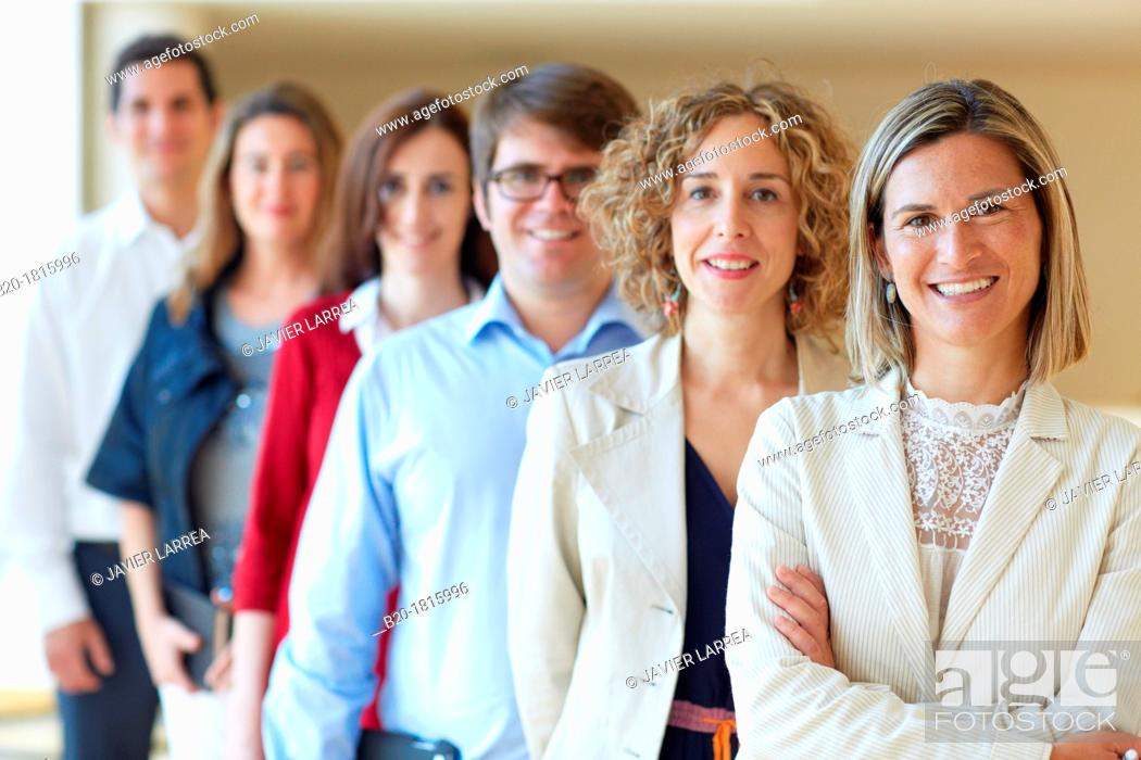 Stock Photo: Team of business executives, Innovation Strategies, Tecnalia Research & Innovation, Basque Country, Spain.