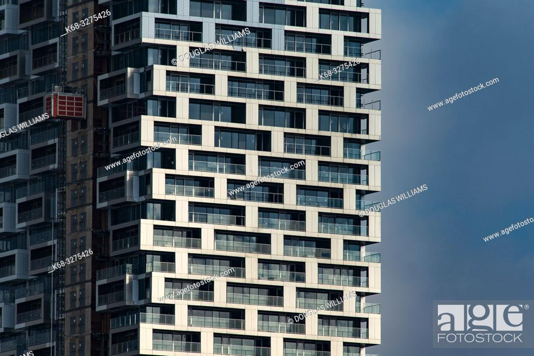 Stock Photo: Vancouver House, designed by BIG architecture, Vancouver, BC, Canada.