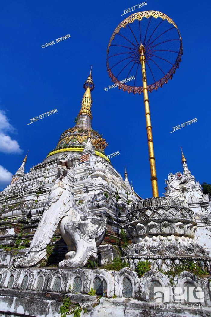 Stock Photo: Chedi at Wat Saen Fang Temple in Chiang Mai, Thailand.