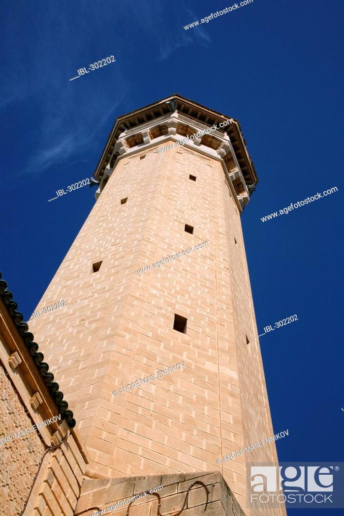 Stock Photo: A minaret in Monastir. Tunisia.