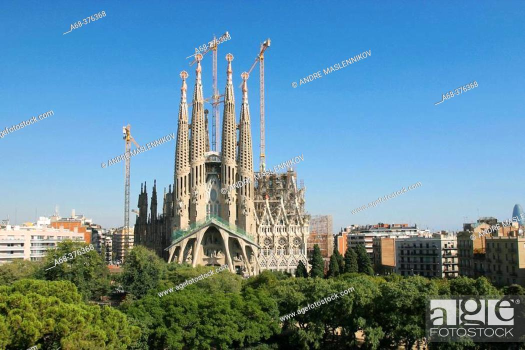 Stock Photo: Sagrada Familia, by Antoni Gaudi. Barcelona. Spain.
