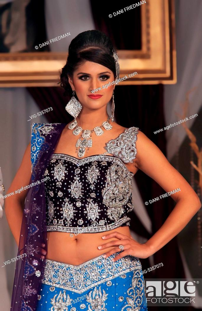 Canada Toronto 16 02 2014 An Indian Fashion Model Displays An Elaborate Bridal Outfit From Mumbai Stock Photo Picture And Rights Managed Image Pic Vig 5357073 Agefotostock