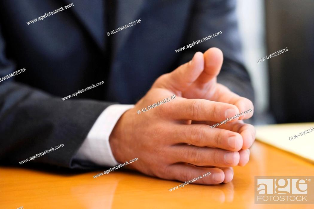 Stock Photo: Mid section view of a businessman.
