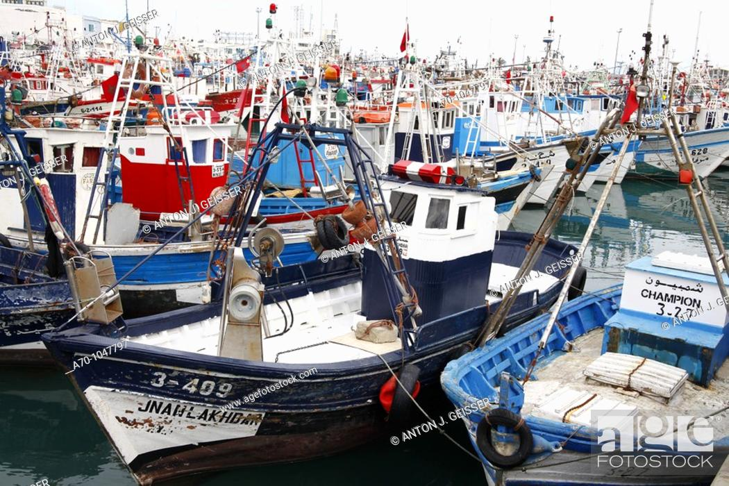 Stock Photo: Fishing Boat, Tanger Marocco.