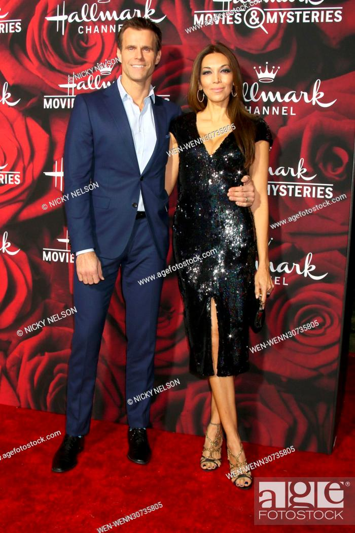 Hallmark Movies And Mysteries.Cameron Mathison And Vanessa Arevalo Attending The Hallmark Channel