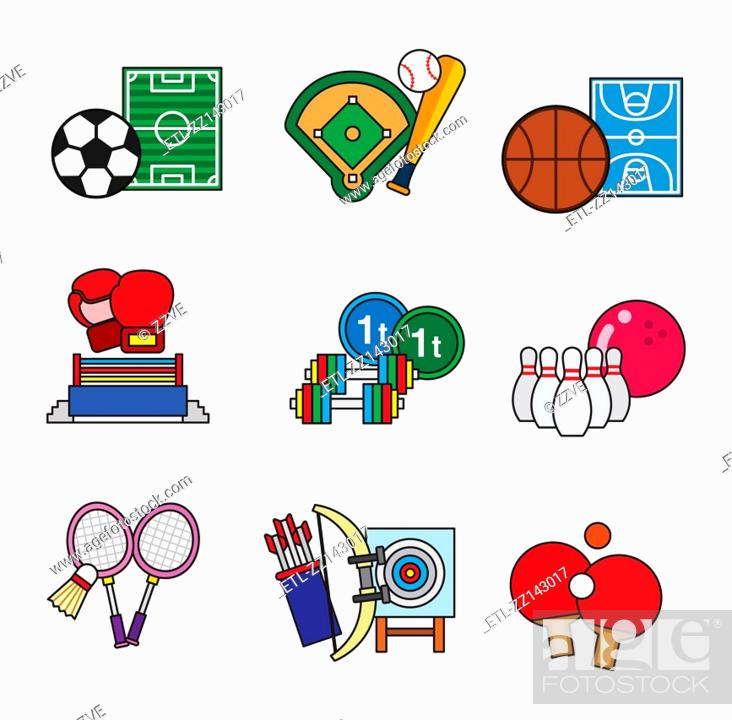 Stock Photo: various sports.